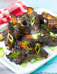 Fabulous Asian Beef Ribs Recipe on ASpicyPerspective.com #ribs #grilling #summer #AppleButterSpin