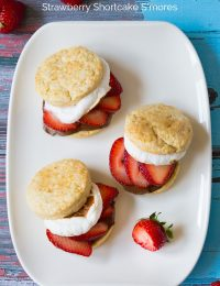 S'mores Strawberry Shortcake Recipe #smores #summer #strawberryshortcake
