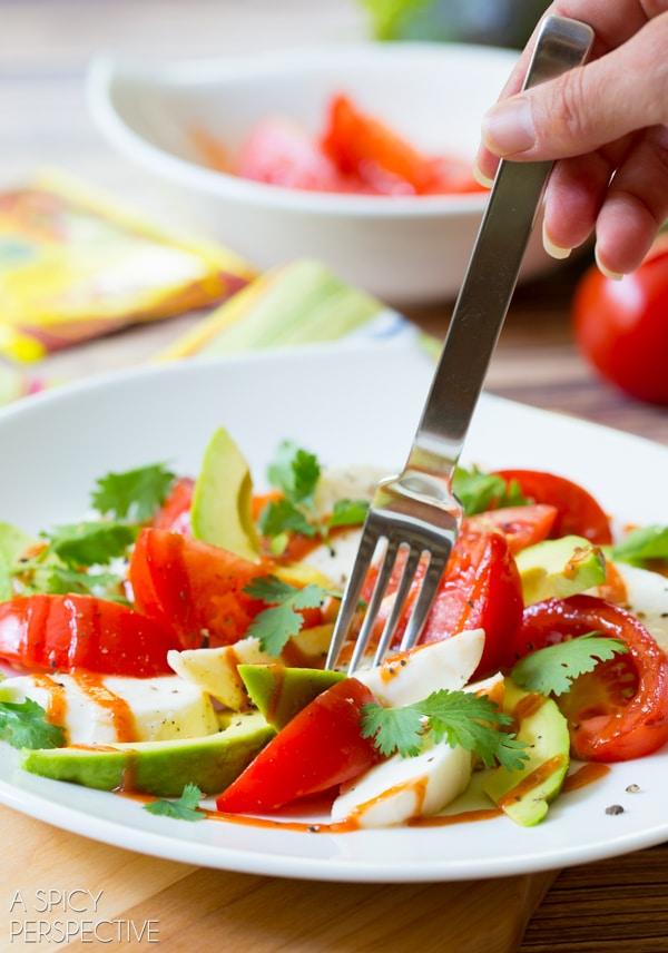 Amazing Mexican Caprese Salad! #mexican #caprese #salad