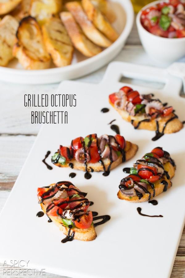 Octopus Bruschetta #italian #bruschetta