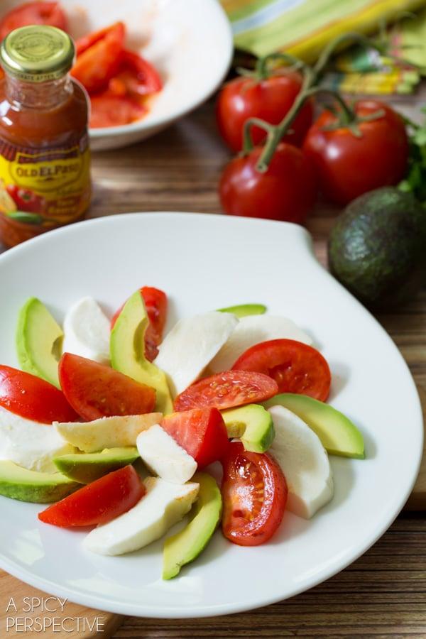 Making a Mexican Caprese Salad! #mexican #caprese #salad