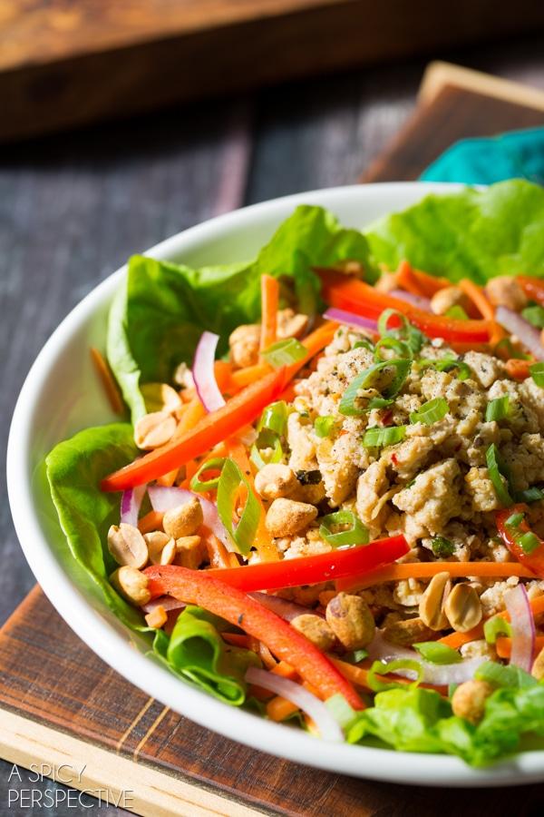 Easy Nam Sod Salad #healthy #thai