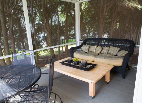 {BEFORE} Screened In Porch Ideas - Making the Most of a Small Budget. #diy #remodel #outdoorliving