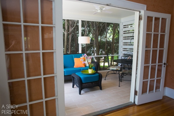 Budget Screened In Porch Ideas - Making the Most of a Small Budget. #diy #remodel #outdoorliving