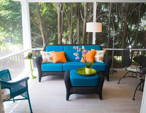 Budget DIY Screened In Porch Ideas - Making the Most of a Small Budget. #diy #remodel #outdoorliving