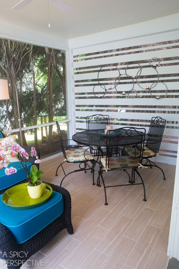 DIY: Screened In Porch Ideas - Making the Most of a Small Budget. #diy #remodel #outdoorliving