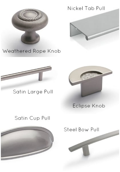 Shenandoah Cabinetry - Knob Options #DIY