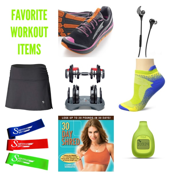 Favorite Workout Items on ASpicyPerspective.com #fitness #workout