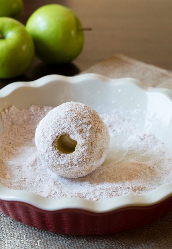 Making Baked Apple Recipe - Apple Bombs! #apple #fall #applepie