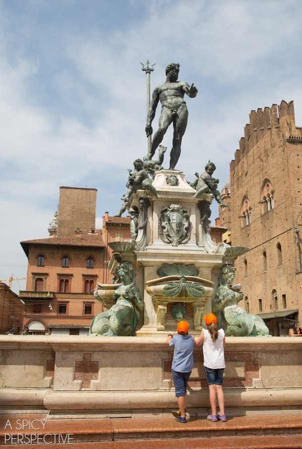 Piazza Maggiore - Bologna Italy - Travel Tips and Photos on ASpicyPerspective.com #travel #italy