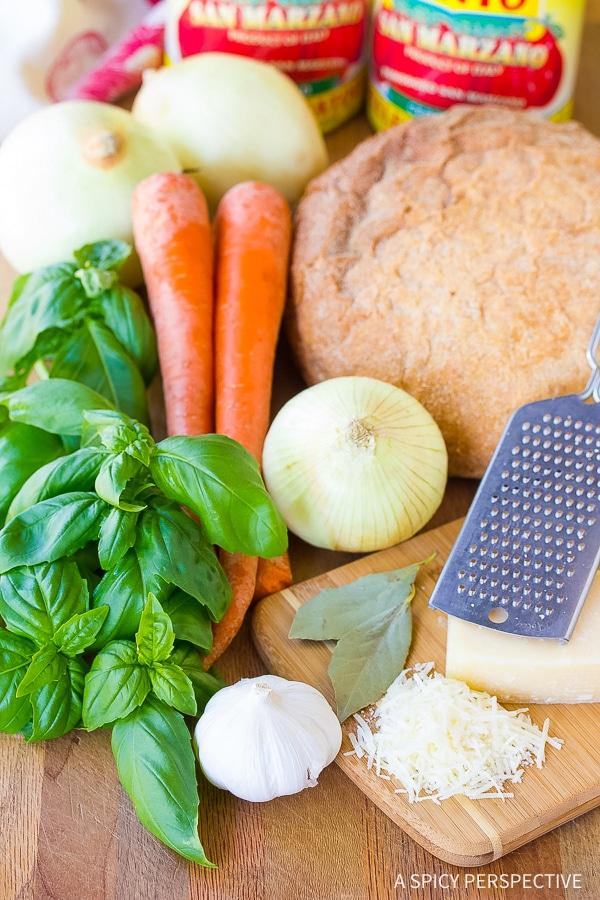 Making Pappa al Pomodoro - Italian Homemade Tomato Soup Recipe