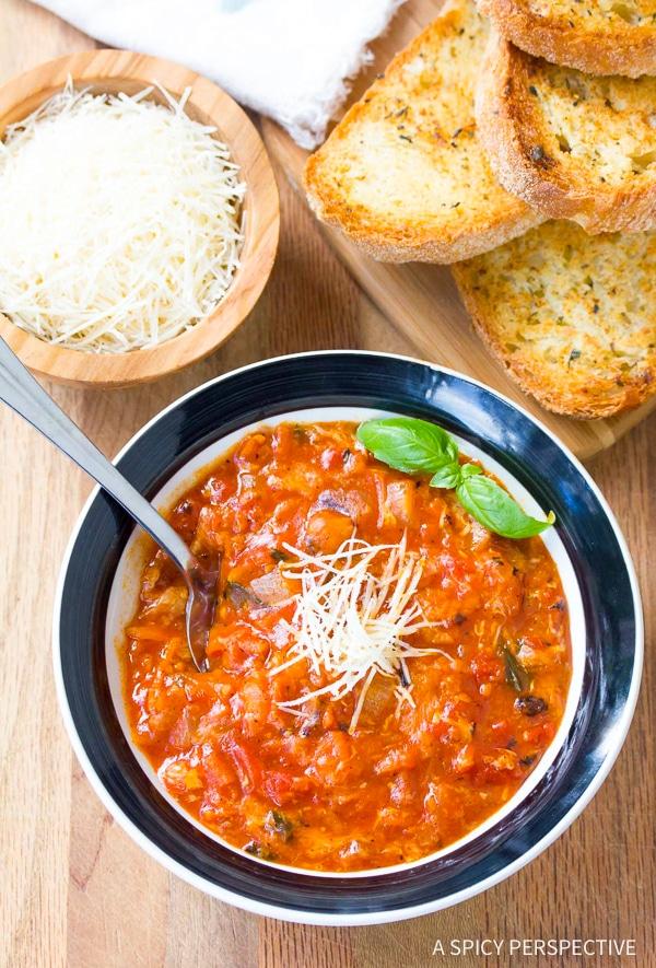 Silky Pappa al Pomodoro - Italian Homemade Tomato Soup Recipe