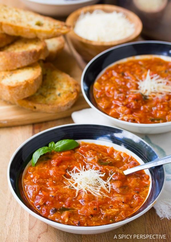 Chunky Pappa al Pomodoro - Italian Homemade Tomato Soup Recipe