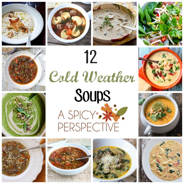 12 Cold Weather Soups to warm you up #soup #fall #thebest