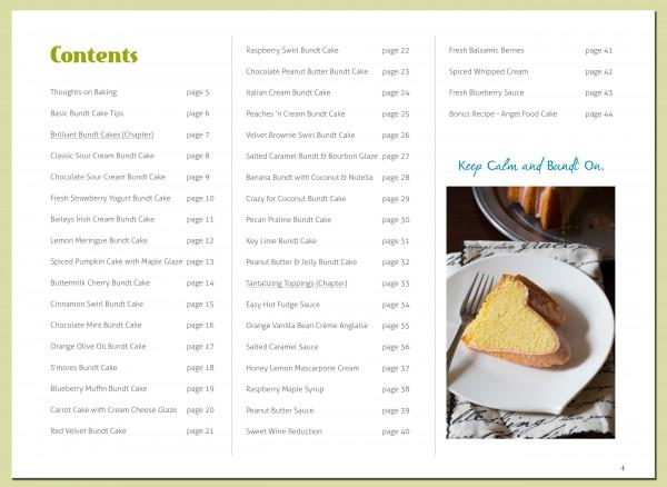 Contents - Brilliant Bundt Cake eCookbook!