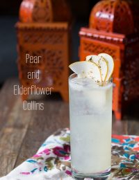 Pear and Elderflower Collins #cocktails
