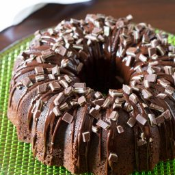 Chocolate Mint Bundt Cake Recipe + Brilliant Bundt Cakes Ebook Release Party!
