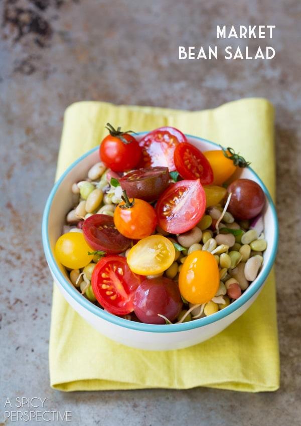 Market Bean Salad #healthy #salad #vegan #glutenfree