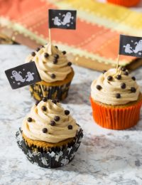 Pumpkin Cupcakes with Peanut Butter Frosting