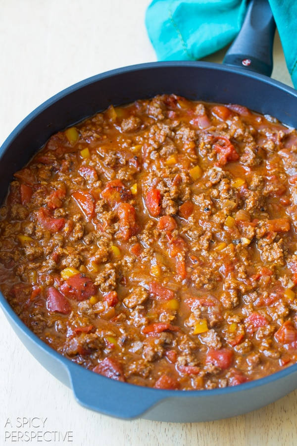 The Best Spicy Sloppy Joes #fall #halloween #party