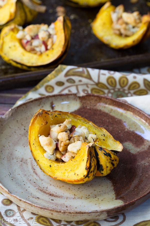 The Best Roasted Squash with Pear and Blue Cheese Streusel