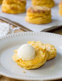 Fluffy Sweet Potato Biscuits! Light Flaky and Moist. #biscuits #sweetpotato #holiday #thanksgiving