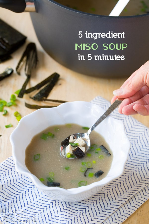 Got to Try! 5 Ingredient Miso Soup Recipe in 5 Minutes! #healthy #vegan