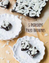 5 Ingredient Paleo Brownies #paleo #raw #glutenfree #vegan