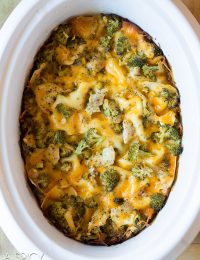 Chicken Broccoli Slow Cooker Lasagna