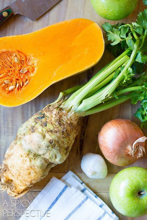 Making Healthy Butternut Squash Soup Recipe #soup