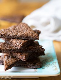 Chocolate Malt Brownie Brittle Recipe on ASpicyPerspective.com #brownies #brittle