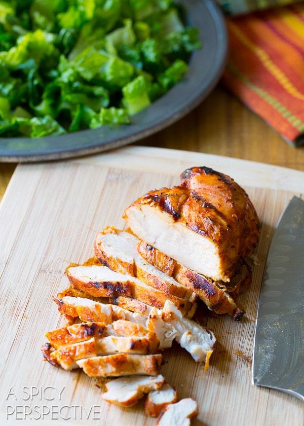 Grilled Chicken Salad #ASpicyPerspective #GrilledChickenSalad #GrilledChicken #Salad #MexicanSalad #ChickenSalad #MexicanChickenSalad #MexicanGrilledChickenSalad