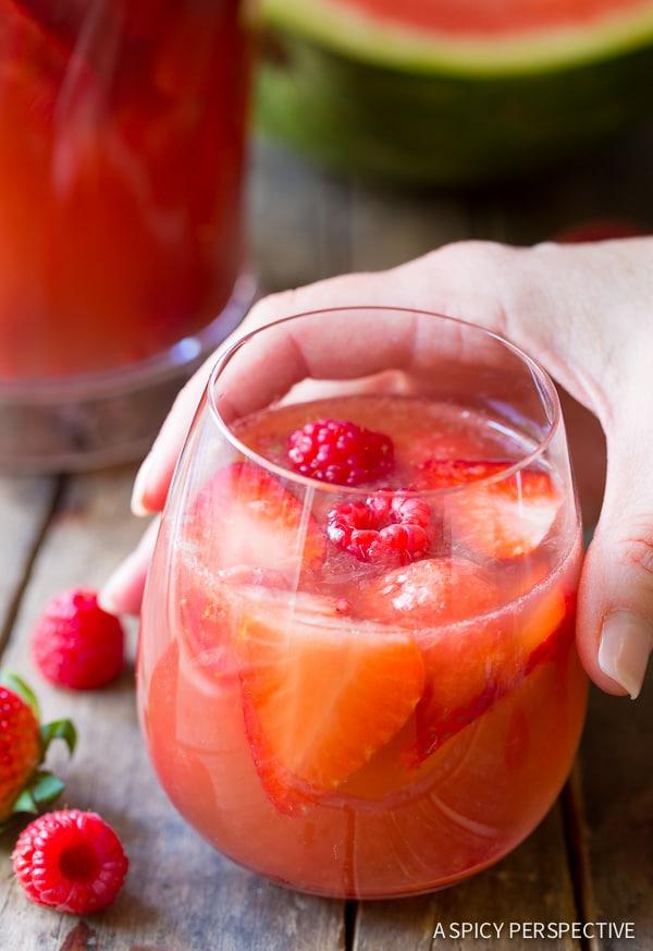 Cocktails #ASpicyPerspective #Cocktails #Sangria #SangriaRecipe #RoseSangria #HowtoMakeSangria #Drinks #Beverage