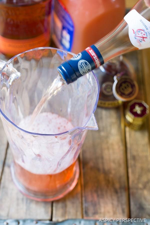 How to Make Sangria #ASpicyPerspective #Cocktails #Sangria #SangriaRecipe #RoseSangria #HowtoMakeSangria #Drinks #Beverage