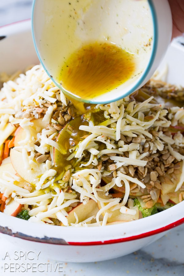 The BEST Apple Chopped Salad with Herb Vinaigrette on ASpicyPerspective.com #salad #healthy
