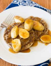 Grilled French Toast with Bananas Foster on ASpicyPerspective.com