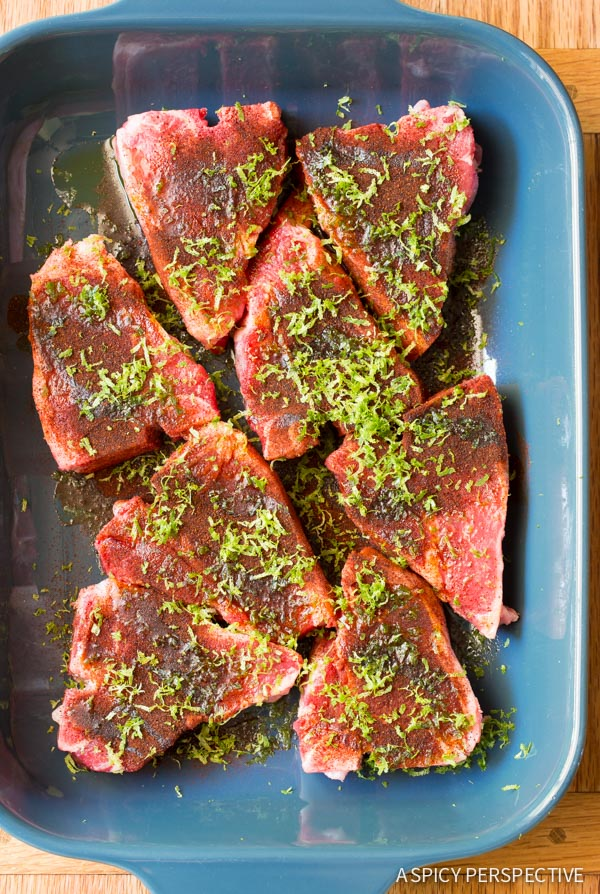Making Chipotle Lime Grilled Lamb Chops with Ranchero Sauce