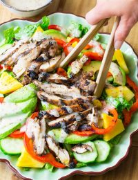 Jamaican Jerk Chicken Salad on ASpicyPerspective.com