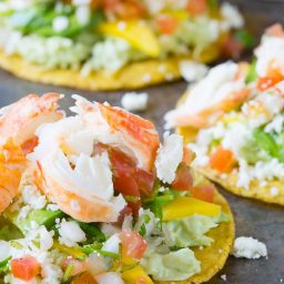 Amazing Lobster Tostadas Recipe on ASpicyPerspective.com #lobster #mexican
