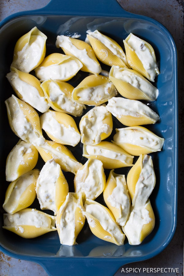 Make Enchilada Style Mexican Stuffed Shells