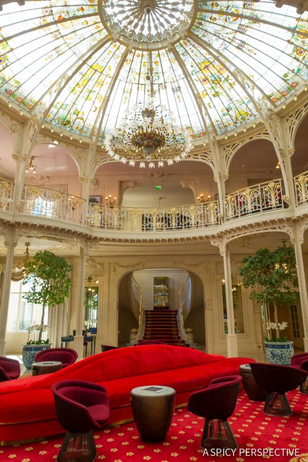 Hotel Hermitage Winter Garden - Monte Carlo Monaco on ASpicyPerspective.com #travel #frenchriviera #cotedazur