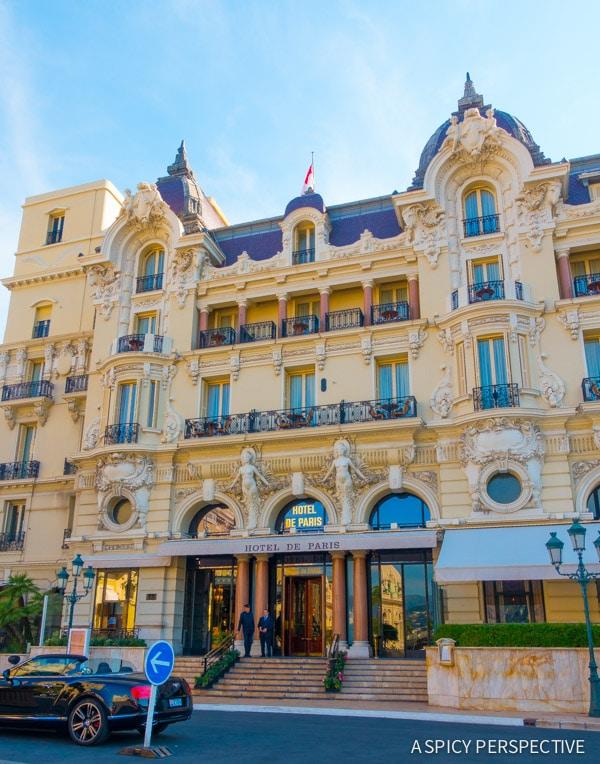Hôtel de Paris in Monte Carlo Monaco on ASpicyPerspective.com #travel #frenchriviera #cotedazur