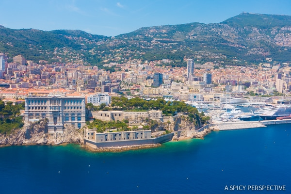 A Helicopter Ride To Monte Carlo Monaco on ASpicyPerspective.com #travel #frenchriviera #cotedazur