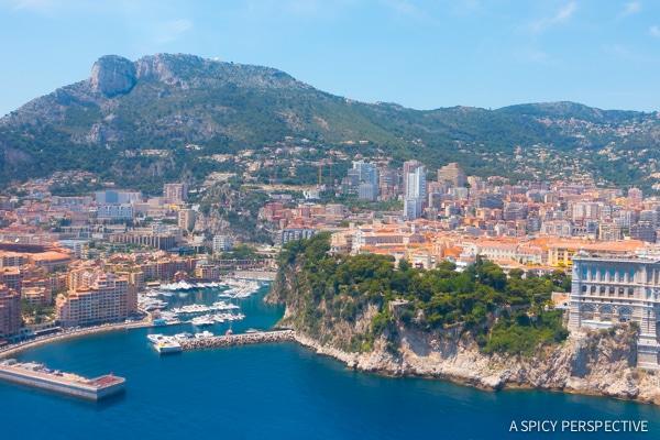 Flying Into Monte Carlo Monaco on ASpicyPerspective.com #travel #frenchriviera #cotedazur