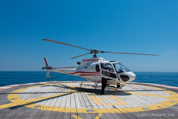 Helicopter Ride To Monte Carlo Monaco on ASpicyPerspective.com #travel #frenchriviera #cotedazur