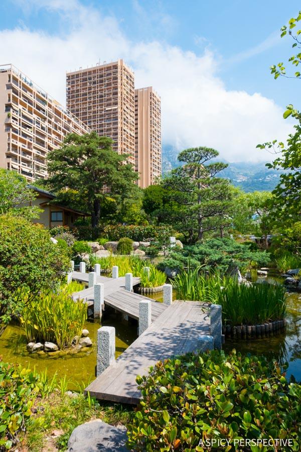 Japanese Tea Garden - Monte Carlo Monaco on ASpicyPerspective.com #travel #frenchriviera #cotedazur