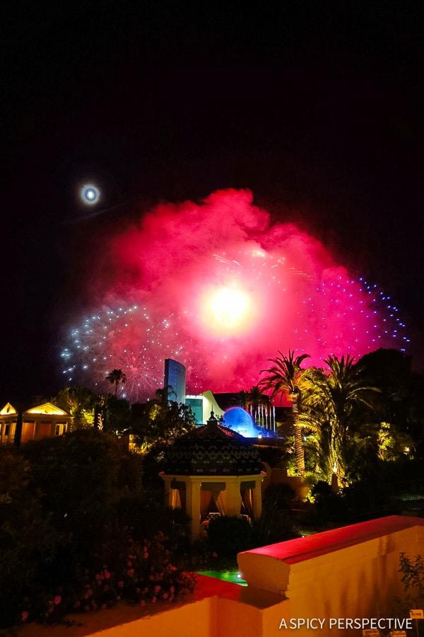 Fireworks in Monte Carlo Monaco on ASpicyPerspective.com #travel #frenchriviera #cotedazur