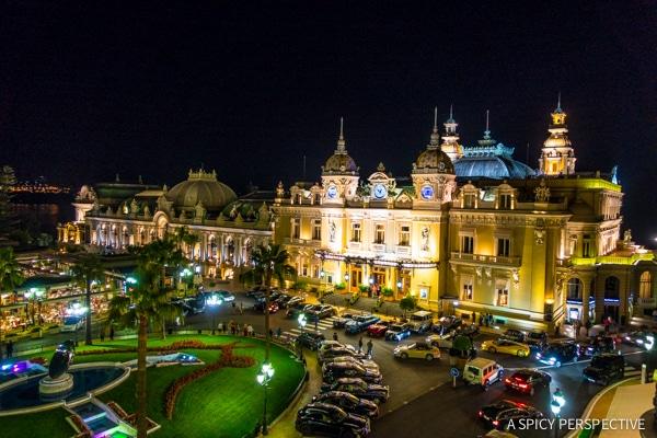View from Hôtel de Paris in Monte Carlo Monaco on ASpicyPerspective.com #travel #frenchriviera #cotedazur