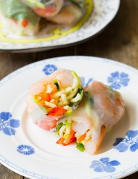 Vietnamese Spring Rolls with Zoodles!!