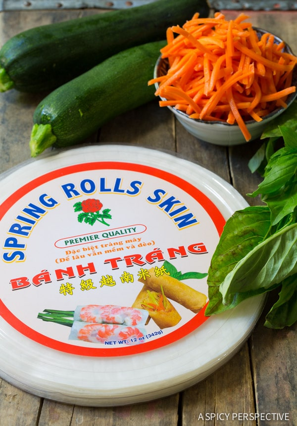 Making Vietnamese Spring Rolls with Zoodles!!
